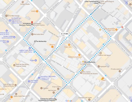 Innov Tour map